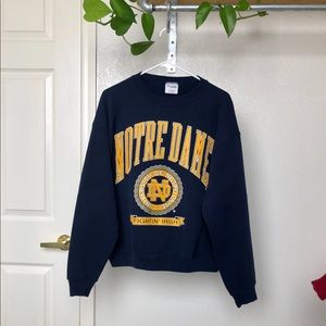 Vintage Notre Dame Crewneck Pullover Sweater